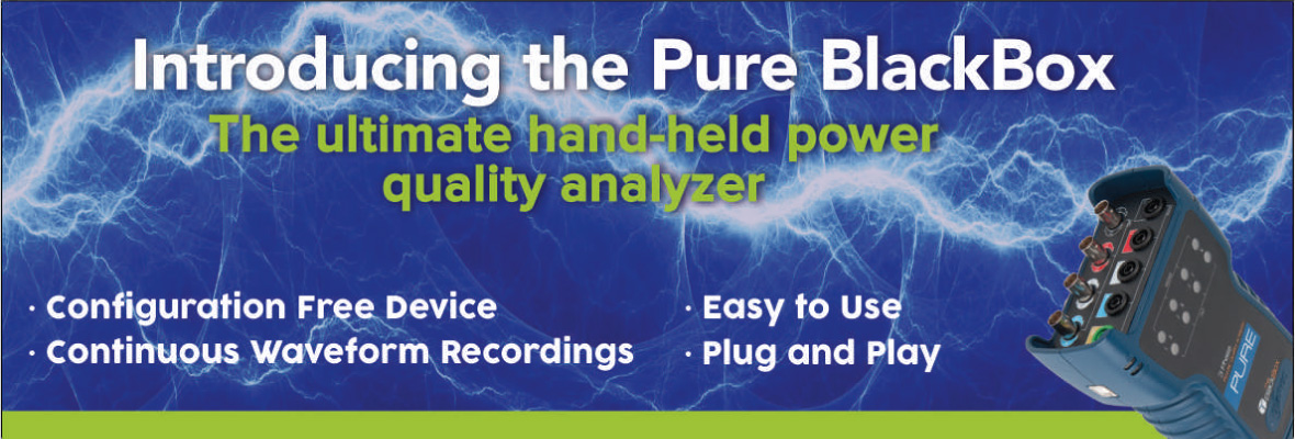 Introducing the Pure Black Box - hand-held power quality analyzer
