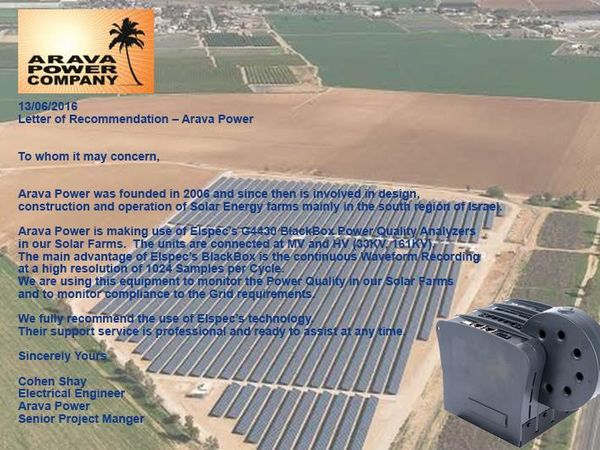 Advantages of using High Resolution, Continuous PQ Analyser in Solar Farms
